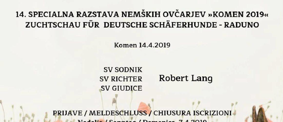 14. specialna razstava nemških ovčarjev Komen 2019